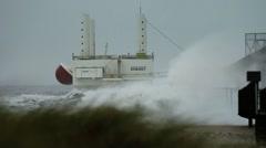 Wave Energy Denmark 09 - stock footage