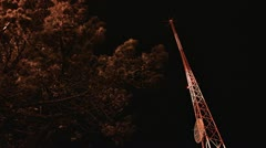 Low Angle Perspective Communications Antenna Mast - stock footage