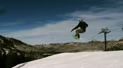 Snowboarding tricks 3 Stock Footage