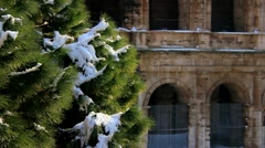 Rome under the snow - Colosseum - Sequence Stock Footage