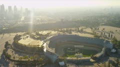 Aerial view of Dodgers stadium Los Angeles, USA Stock Footage