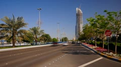 United Arab Emirates, Abu Dhabi, Corniche (Time Lapse) - stock footage