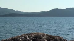 Sea panorama 1 Stock Footage