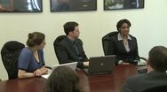 A look inside a conference room meeting Stock Footage