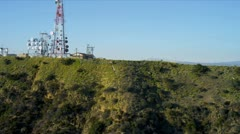 Aerial view of Hollywood sign Los Angeles, USA Stock Footage