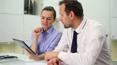 Business people working with digital tablet in office HD - stock footage