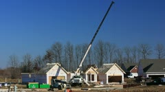 New home construction  1 of 9 Stock Footage