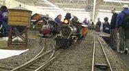 Model Train Follow Shot 1 Stock Footage