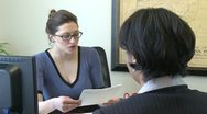 Stock Video Footage of Job interview (2 of 2)