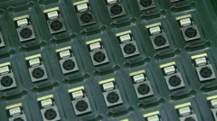 Camera Module for Mobile Phone Stock Footage