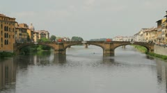 Florence Italy Arno River Bridge View (HD) - stock footage