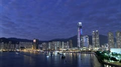 Sunset Cityscape Timelpase, Hong Kong. Stock Footage