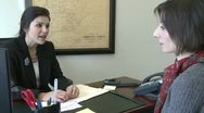 Stock Video Footage of Female professional meets with client (1 of 2)
