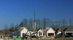 New home construction  6 of 9 Stock Footage
