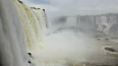 Water power, Iguacu Falls, Brazil Stock Footage