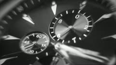 Time is running out. Close-up of watch. Stock Footage
