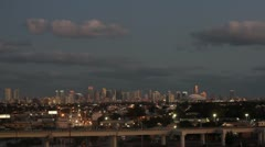Downtown Miami Timelapse at Evening - stock footage