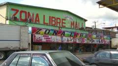 Paso Canoas Panama border town Zona Libre mall Stock Footage