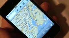 Using iPod for internet browsing. Stock Footage