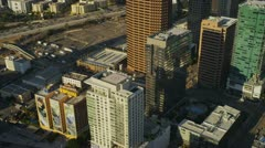 Aerial view of traffic congestion, USA Stock Footage