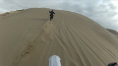 Dirt Bike in Sand Dunes Follow HD0033 Stock Footage