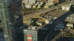 Aerial view of city skyscrapers Los Angeles, USA  Stock Footage