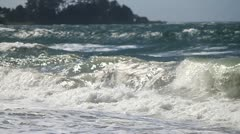 Medium waves crashing Stock Footage