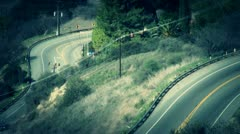 winding road - stock footage