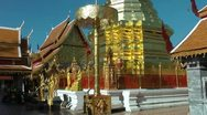 Thailand Chiang Mai Golden chedi Stock Footage