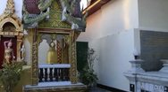 Chiang Mai Thailand Wat Phrathat Stock Footage