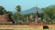Thailand Sukhothai Wat Mahathat Stock Footage