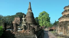 Thailand, Sukhothai Historical Park, Wat Mahathat Stock Footage