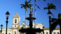 Church in Terreiros square, Pelourinho, Brazil Stock Footage