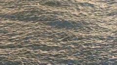 Rippled sea surface Stock Footage