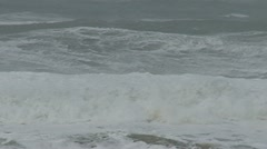 Storm waves BIG at SF Beach 2 Stock Footage