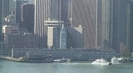 San Francisco Skyline from Treasure Island 3 Stock Footage