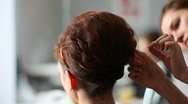 Hairstyle. Stock Footage