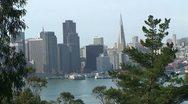 San Francisco Skyline from Treasure Island Stock Footage