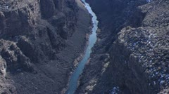 Rio Grande Gorge South Tilt 3 Stock Footage