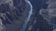 Rio Grande Gorge South Tilt 3 Stock Footage