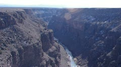 Stock Video Footage of Rio Grande Gorge South Tilt 2