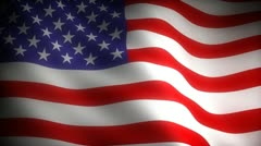 Flag of USA (seamless) - stock footage