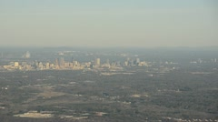 Downtown Atlanta in the distance Stock Footage