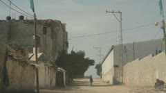 Boy on horse in Gaza Strip road Stock Footage