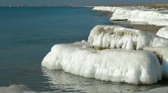 Frozen Seascape Stock Footage