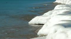 Icy Coastline Stock Footage