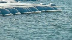 Winter Seascape Stock Footage