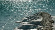 Icy Coastline Stock Footage