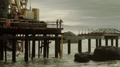 pier crane 05 - stock footage
