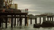 Pier crane 05 Stock Footage